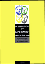 Institution et implication Utopie Critique
